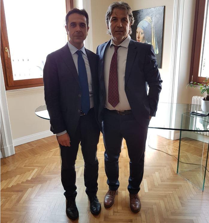 Gabriel Tullio e il presidente Aepi Dino Minoi